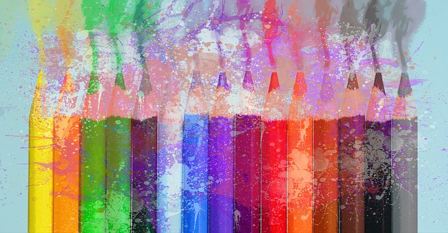 Crayons couleurs degrade